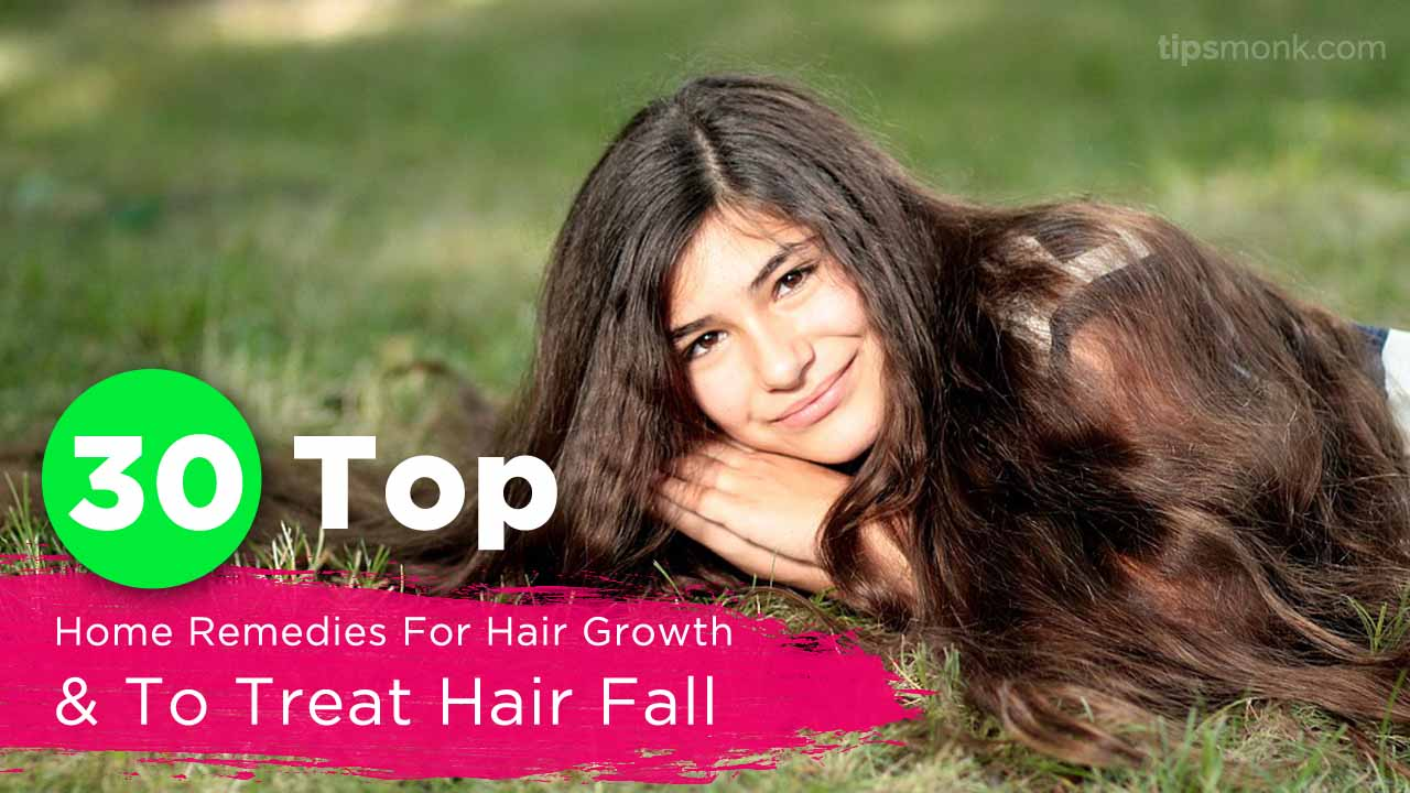 Top & best home remedies for hair growth, treat hair fall or loss naturally - Tipsmonk Thumbnail image