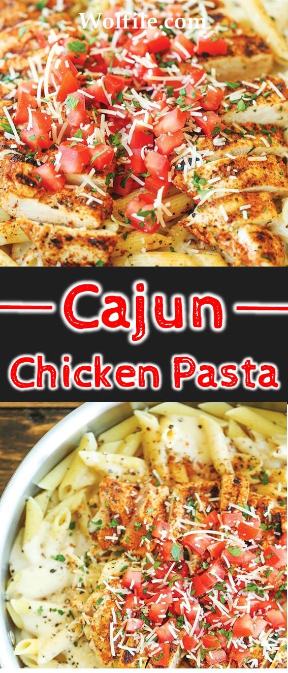 CAJUN CHICKEN PASTA #Chicken #Pasta