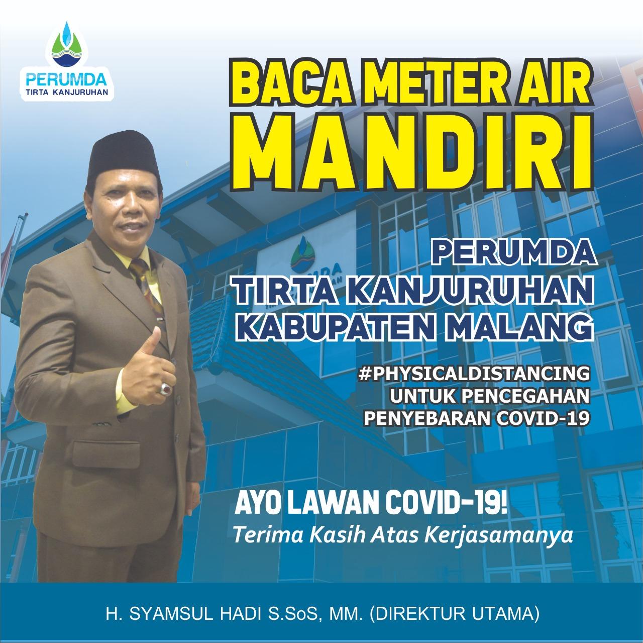 Cegah Covid-19, Perumda Tirta Kanjuruhan Terapkan Program Baca Meter Air Secara Mandiri