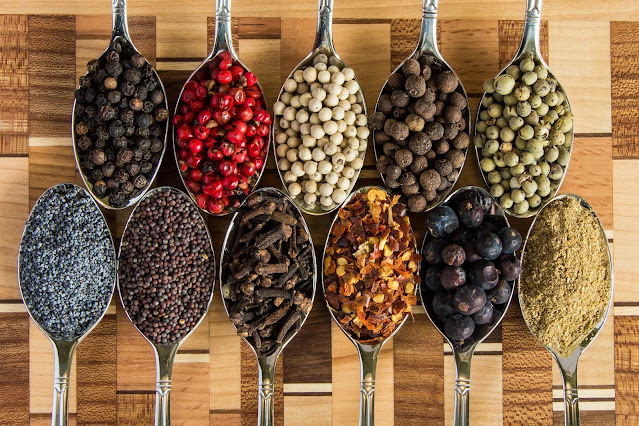 List of spices in spoons