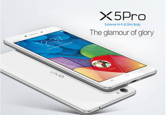 Vivo X5Pro Specifications - LAUNCH Announced 2015, May DISPLAY Type Super AMOLED capacitive touchscreen, 16M colors Size 5.2 inches (~68.6% screen-to-body ratio) Resolution 1080 x 1920 pixels (~424 ppi pixel density) Multitouch Yes Protection Corning Gorilla Glass 3 BODY Dimensions Dimensions 147.9 x 73.5 x 6.4 mm (5.82 x 2.89 x 0.25 in) Weight 151 g (5.33 oz) SIM Dual SIM PLATFORM OS PLATFORM OS Android OS, v5.0 (Lollipop) CPU Quad-core 1.5 GHz Cortex-A53 & quad-core 1.1 GHz Cortex-A53 Chipset Qualcomm MSM8939 Snapdragon 615 GPU Adreno 405 MEMORY Card slot microSD, up to 128 GB (uses SIM 2 slot) Internal 16 GB, 2 GB RAM CAMERA Primary CAMERA Primary 13 MP, f/2.0, phase detection autofocus, LED flash Secondary 8 MP, f/2.4, 1080p Features Geo-tagging, touch focus, face detection, panorama, HDR Video 1080p@30fps NETWORK Technology GSM / HSPA / LTE 2G bands GSM 850 / 900 / 1800 / 1900 - SIM 1 & SIM 2 3G bands HSDPA 850 / 900 / 2100 4G bands LTE band 1(2100), 3(1800), 7(2600), 8(900), 40(2300) Speed HSPA, LTE GPRS Yes EDGE Yes COMMS WLAN Wi-Fi 802.11 b/g/n, hotspot GPS Yes, with A-GPS, GLONASS USB microUSB v2.0, USB Host Radio FM radio Bluetooth v4.0 FEATURES Sensors Sensors Accelerometer, proximity Messaging SMS (threaded view), MMS, Email, Push Email Browser HTML5 Java No SOUND Alert types Vibration; MP3, WAV ringtones Loudspeaker Yes 3.5mm jack Yes  - Hi-Fi audio BATTERY  Non-removable Li-Po 2450 mAh battery Stand-by  Talk time  Music play  MISC Colors Black, White  SAR US - Funtouch OS 2.1 - MP4/WMV/H.264 player - MP3/WAV/WMA/eAAC+/FLAC player - Document viewer - Photo/video editor