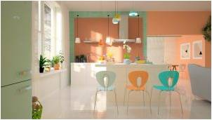 Pastel colors in a kitchen