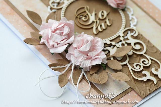 kwiaty i papier kraftowy