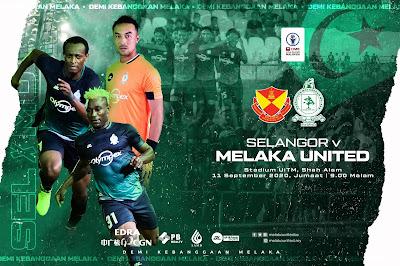 Jom Tengok ! Live Streaming Selangor vs Melaka Liga Super 11.9.2020
