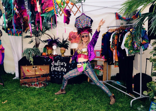 Dulcie's Feathers at Love Saves the Day 2016