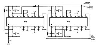 MF10 Full Duplex Modem Filter Diagram