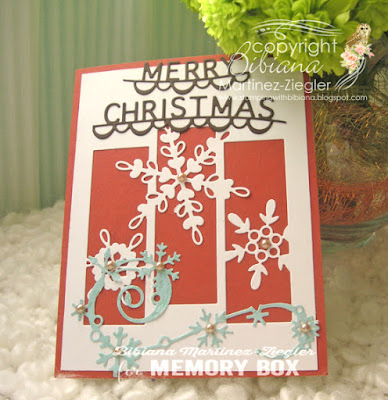 snowflakes front card