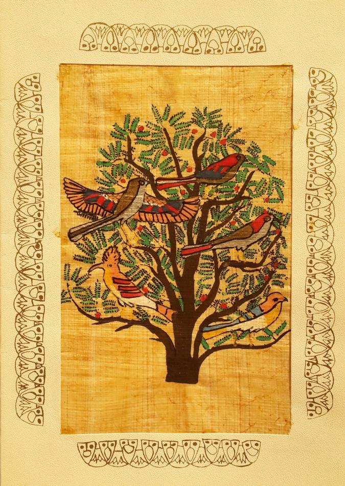Egyptian Papyrus Art Tree - Os egípcios usavam DMT? Saiba mais