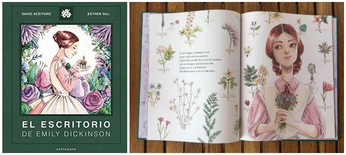 Libro infantil El escritorio de Emily Dickinson