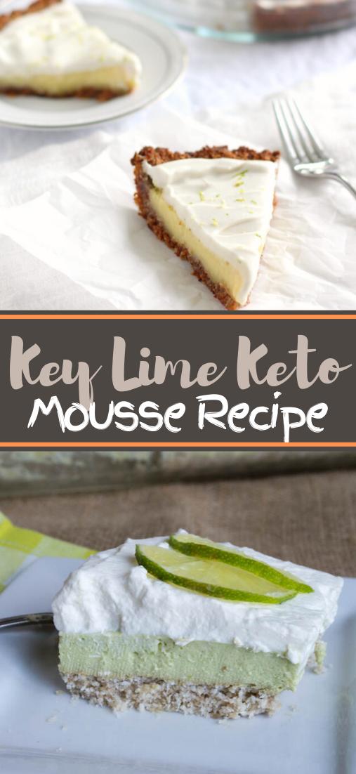 Key Lime Keto Mousse Recipe #healthyrecipe #dinnerhealthy #ketorecipe #diet #salad