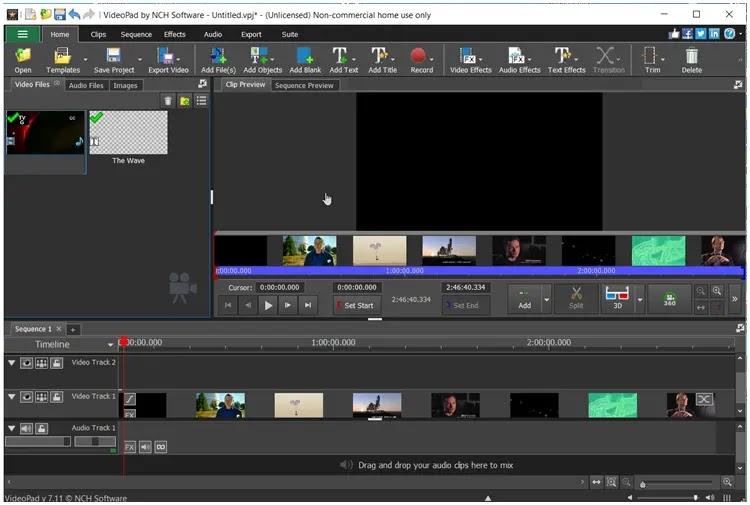 VideoPad :  Επεξεργασία και δημιουργία βίντεο  επαγγελματικής ποιότητας