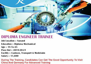 Automotive Industry Recruitment Diploma Engineer trainee in the Sanand, Gujarat Location