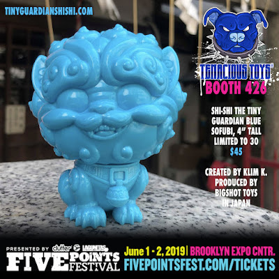 Five Points Festival 2019 Exclusive Shi-Shi the Tiny Guardian Blue Sofubi by Bigshot Toys x Tenacious Toys