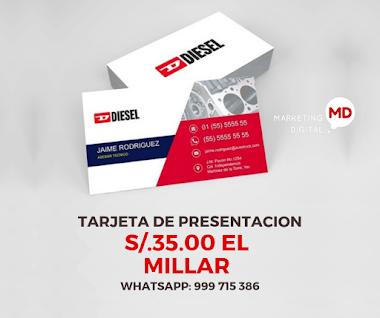 🥇 TARJETAS DE PRESENTACIÓN S/.35.00
