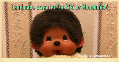 kiki monchhichi handmade fait main tricot doll poupée clothes vetement