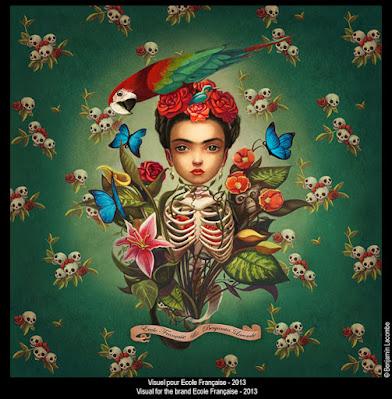 Benjamin Lacombe ilustración Frida
