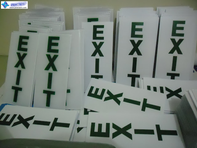Acrylic Exit Signs