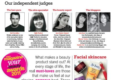 Tesco magazine your beauty awards judges 2011