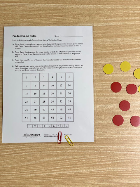 The Product Game Printable Game Board