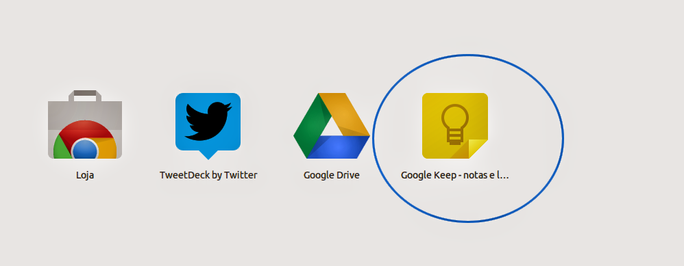 Google Keep no Chrome