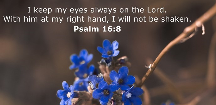 I keep my eyes always on the Lord. With him at my right hand, I will not be shaken.