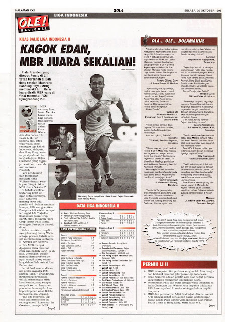 KILAS BALIK LIGA INDONESIA II MASTRANS BANDUNG RAYA JUARA