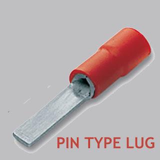 pin type lug, types of lugs, cable lug size, cable lug type, ring type lug