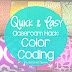 Quick and Easy Color Coding Hack for the Classroom