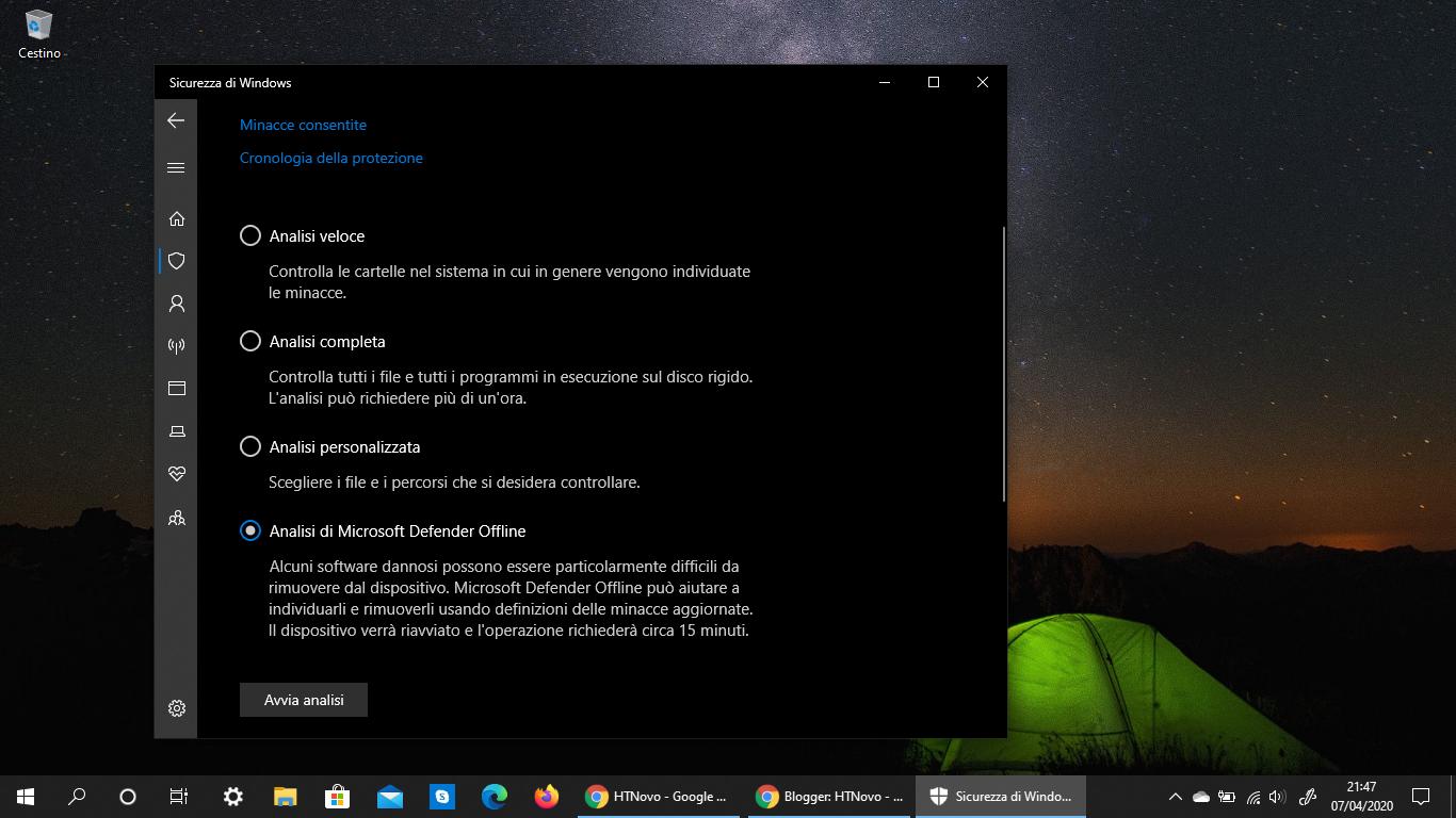 Windows 10 Versione 2004, Microsoft Defender oltre il Sistema operativo