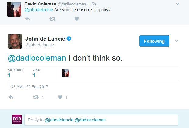 John de Lancie Doesn't Think He Is In Season 7