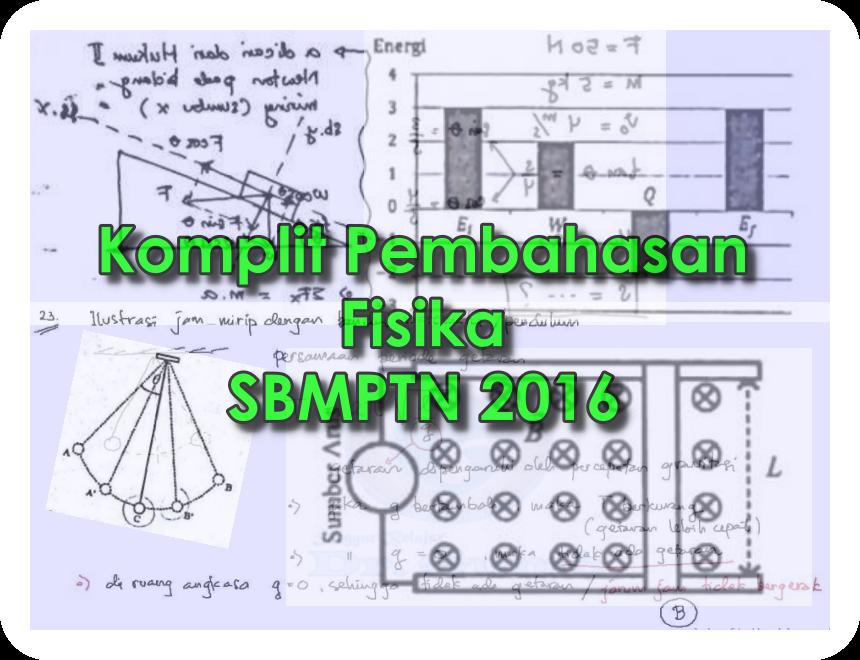 Pembahasan Fisika Pada Soal Sbmptn 2016 Kode 230 Lakonfisika Net