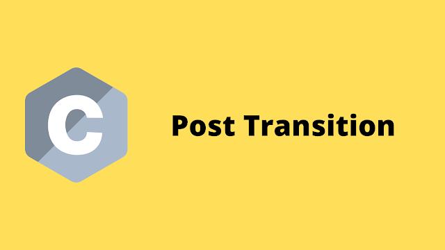 HackerRank Post Transition solution in c programming