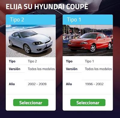 Seleccionar la marca y el modelo de automóvil en Solo Alfombrillas