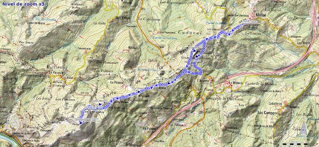 Mapa ruta Santo Medero desde Molleo