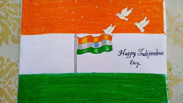 Independence day drawing picture