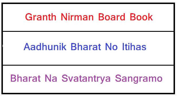 Aadhunik Bharat No Itihas [Granth Nirman Board Book PDF]