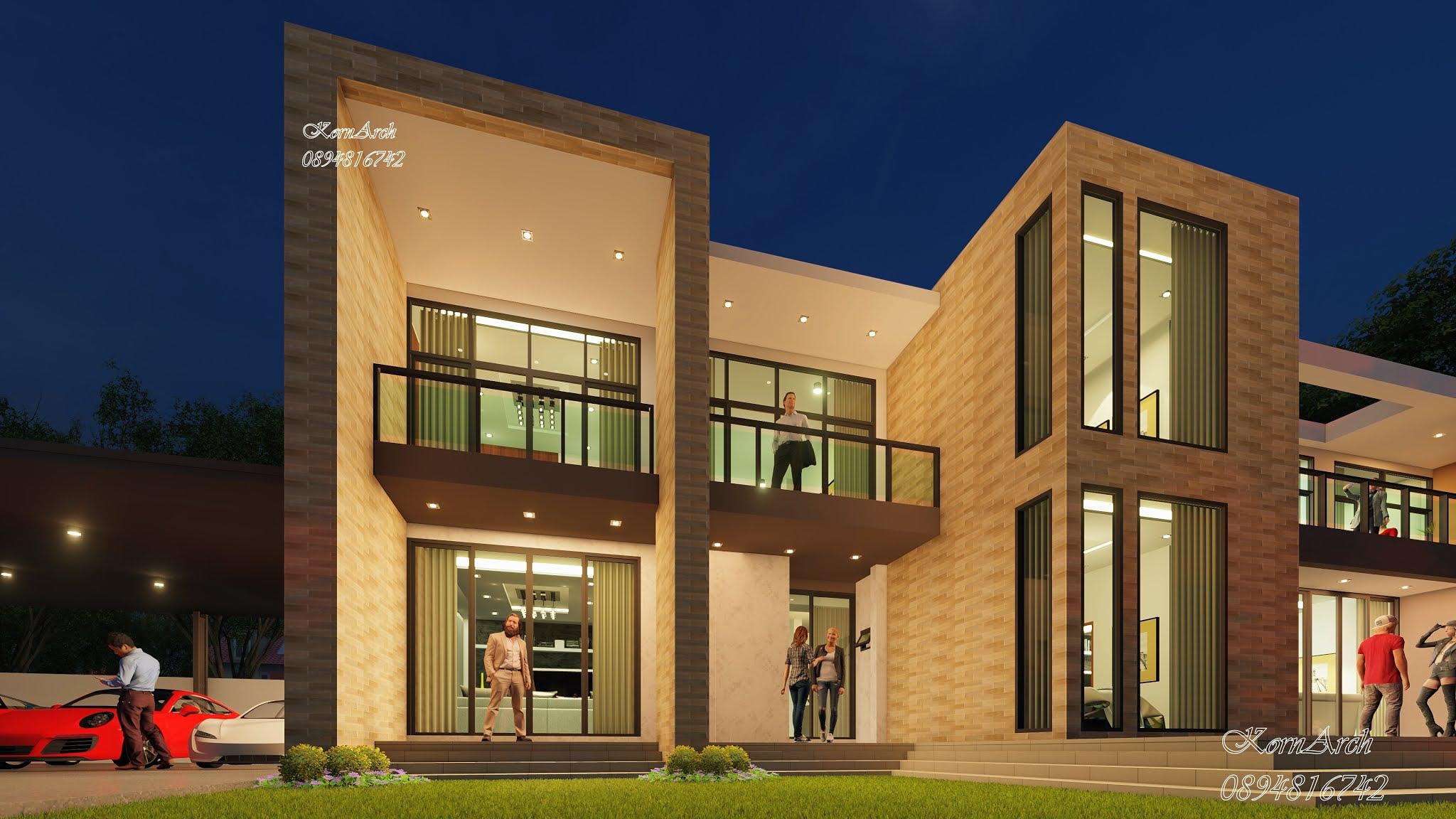รับออกแบบต่อเติมบ้าน2ชั้น(3D) เจ้าของอาคาร บริษัทนันทะพล จำกัด อ.ลาดหลุมแก้ว จ.ปทุมธานี