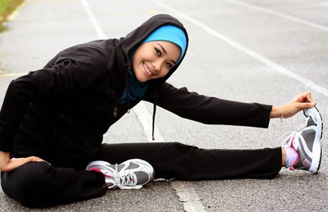 Image result for olahraga kuat berhijab