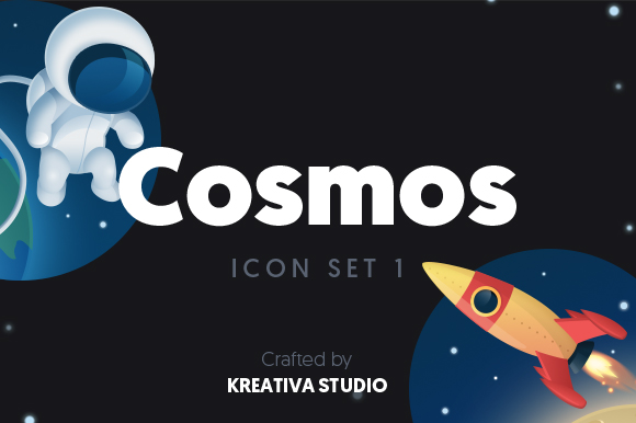 Cosmos Icon Set Graphic