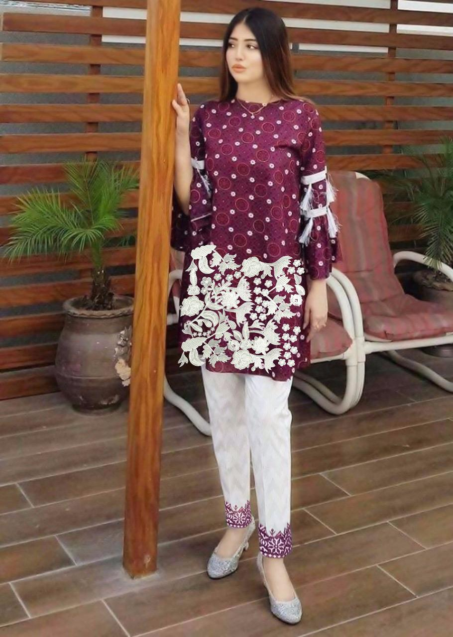 Pakistani shalwar kameez Winter Linen Three Piece Stitched Suit Designer Replica