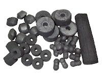 Çeşitli şekillerde briket pres kömür