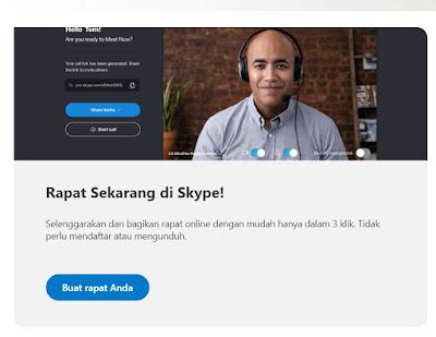 memulai rapat di skype