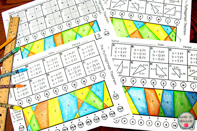 Pythagorean Theorem Stained Glass Activity