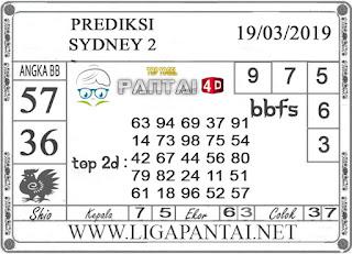 "Prediksi Togel ""SYDNEY 2"" PANTAI4D 19 MARET 2019"