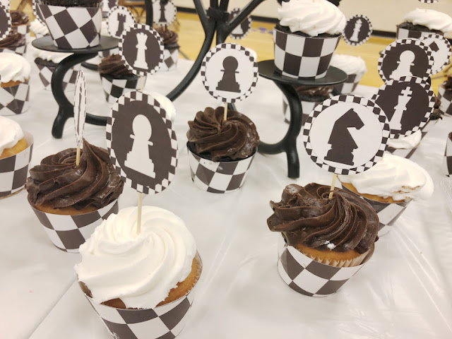 Printable Chess Cupcake Toppers and Wrappers for Game Night