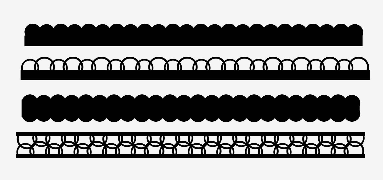 Free Scallop Border Svg For Scrapbooking