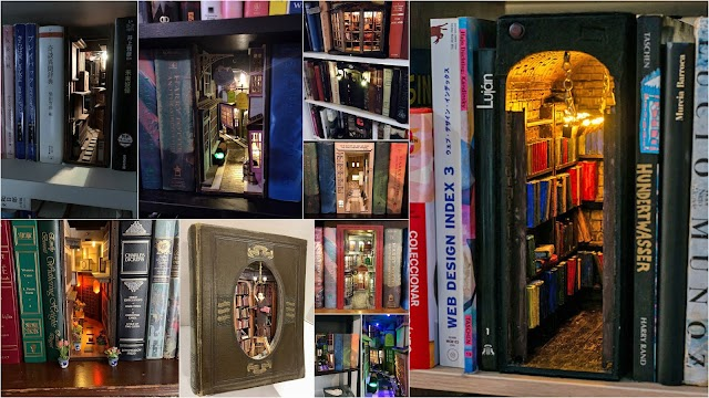 DIY Διακοσμητικές μινιατούρες για βιβλιοθήκες