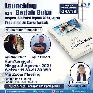 Launching dan Bedah Buku Kumpulan Cerpen dan Puisi Teplok 2020