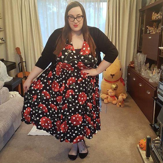 Lindy Bop Poppy plus size dress