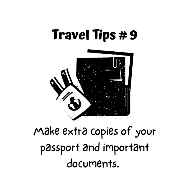 Travel Tip #9: Make extra copies of your passport or important documents